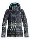 2018 Roxy Jetty Women's Snow Jacket True Black Haveli Ikat NEW