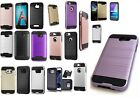 LOT 5 WHOLESALE Brushed Hybrid Armor Shockproof CASE FOR SAMSUNG IPHONE LG MOTO