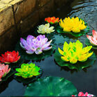 Yellow Artificial Lotus Floating Water Flowers Plants Home Decors Pond Display