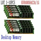 For Kingston PC3200 DDR 400Mhz 8G 4G 2GB 1GB Desktop Memory KVR400X64C3A/1G LOT
