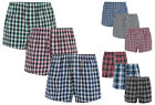 New Mens Check Woven Boxers Loose Button Boxer Shorts Multi Pack Underwear Cheap