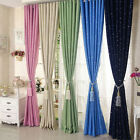 Thick Blockout Silk Insulated Heavy Grommet Window Curtain Panel Draperies Grand