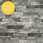 Grey Wallpaper | 3d Effect Slate Stone Charcoal Black Exclusive Feature 902708