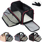 Dog Crate Soft Sided Pet Carrier Foldable Training Kennel Portable Cage 2 Sizes