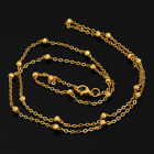 4mm Brass Necklace Chains Length 24 inch Wholesale Chains DIY Chains 20pcs