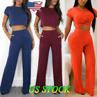 us women 2 piece outfits short sleeve