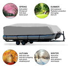 17-24Ft Heavy Duty Trailerable Waterproof Boat Cover Pontoon Fish Ski Bass Beam