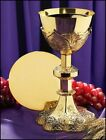CHALICE PATEN GOTHIC STYLE 24k GOLD PLATE CATHOLIC PRIEST Monstrance print