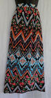Bobbie Brooks Ladies Maxi Skirts NWT Wrap Style Multi Floral Polyester Blend