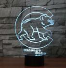 Big Size Chicago Cubs 3D Illusion Desk Lamp 8 Changeable Colors USB Night Light on Ebay