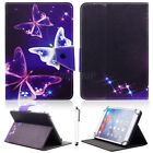 """US For 7"""" 7.85"""" Tablet Three Purple Butterfly Universal Printed PU Leather Case"""