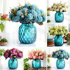 10 Heads Hydrangea Artificial Silk Flower Wedding Arrangement Home Decoration Au