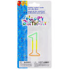 Number 1 2 3 4 5 6 Birthday Candles with Cake Decor 2-pc. Sets Classic birthday