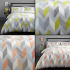 Grafix Geometric Duvet Quilt Cover Bedding Set - Multi/Grey image