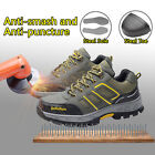 Mens Safety Shoes Steel Toe Sole Breathable Work Hiking Boots Waterproof fromUS