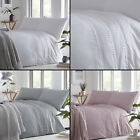Tassel Trim Duvet Quilt Cover Bedding Set - Blush Pink, White, Grey image
