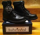 "LIQUIDATION! Men's Black 8"" Leather Work Boots w/ Oil Resist"