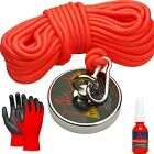 Fishing Magnet Kits by MaxMagnets - Premium Neodymium Recovery Set With Rope