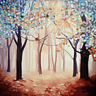 Hand-painted Modern Art  Wall Decor Abstract Oil Painting on Canvas forest KY