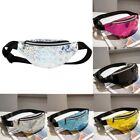 Women Waist Pack Chest Belt Bag Sequins Pu Leather Shoulder Handbag Purse Casual