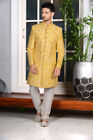Indian Mens Wear Designer Yellow Color Indo Western Bollywood Dress From India