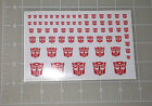 G1 Autobot Symbol Insignia Logo Sticker Decal Sheet