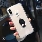 Cute Foodie Kumamon Funny Hanging Bear Clean Soft Case Cover for iPhone X 6 7 8p