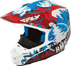 HMK Red/Blue/White Adult F2 Carbon Pro Snowcross Snowmobile Helmet by Fly Racing