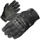 Scorpion Mens Black Klaw II Leather Motorcycle Gloves