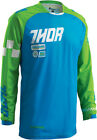 Thor Mens & Youth Blue/Green Phase Ramble Dirt Bike Jersey MX ATV 2016