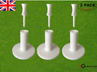 Golf Rubber Tees 3 Pcs/Pack 1.5'' 2.0'' inch with 6 Castle Tees Holder Balls UK