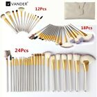 Vander 12/18/24Pcs Gold Stylish Makeup Cosmetic Brush Kit  B