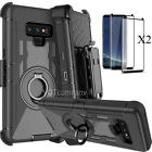 For Samsung Galaxy note 9 Hybrid Armor Rugged Hard Case Cover Belt Clip +Screen