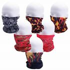 Casual Outfitters Assorted Colors Unisex Biker Tube Headband - Buy 1 or 6pc Set