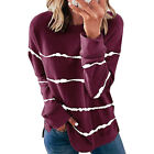 Women's Autumn Sweater Crew Neck Long Sleeve Casual Loose Pullover Jumper Blouse