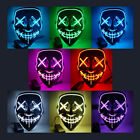 Halloween Mask LED Light Up Party Mask The Purge Election Year Great Cosplay US