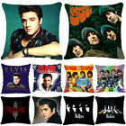 The Beatles Elvis Slipknot Throw Pillow Cover Cotton Linen Cushion Cover 18""