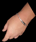 Personalised Sterling silver cut out heart bracelet  - Wedding Birthday Gift.Fine Charms & Charm Bracelets - 140956