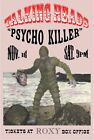 TALKING HEADS - 'Psycho Killer' at the ROXY, Los Angeles Original Concert Poster