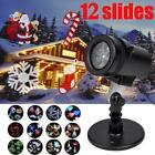 12 Patterns Christmas LED Light Projector Moving Laser Projection Outdoor Indoor