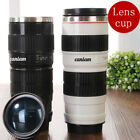Canon Camera Lens Shaped EF 70-200mm Drink Thermos Coffee Cup Mug -White Gift image