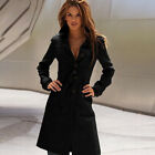 Fashion Womens Warm Button Long Trench Coat Ladies Parka Jacket Outwear Overcoat