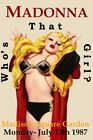 MADONNA - Who's That Girl 1987 New York Original Concert Poster Giclee Print