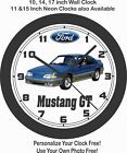 1989 FORD MUSTANG GT WALL CLOCK-FREE USA SHIP, CAMARO, FIREBIRD, TRANS AM