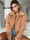 UK Womens Teddy Bear Coats Ladies Jacket Faux Fur Borg Outwear Oversized Hoodie <br/> ❤❤EXCELLENT QUALITY❤FAST &amp; FREE❤WHOLESALE PRICE❤❤