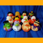 12 Halloween Rubber Ducks Birthday Party Favor Cupcake Toppe