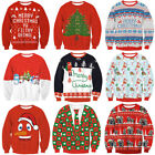 US UGLY XMAS CHRISTMAS SWEATER Vacation Santa Elf Novelly Women Men Sweatshirt