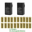 Lot 2500mAh 16340 CR123A 3.7V Rechargeable Batteries Lithium Battery forCamera B