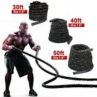 """1.5/2"""" Poly Dacron 30/40/50ft Battle Rope Exercise Workout Strength Training"""