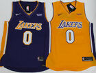 NEW Kyle Kuzma 0 Los Angeles Lakers Mens Basketball Jersey Purple or Yellow